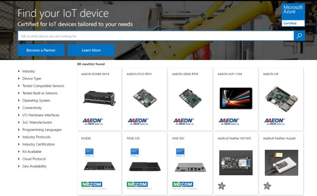 New Azure Certified for #IoT catalog helps customers choose the right device