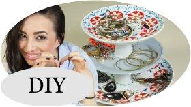 Etagere DIY Coole SCHMUCK Aufbewahrung mit Teller Upcycling Zeitkultur