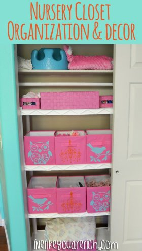 Nursery Closet Organization and Decor organization diy crafts