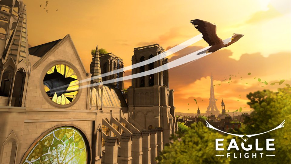 Join us in the skies over Paris! #EagleFlightVR is now available on @Oculus!