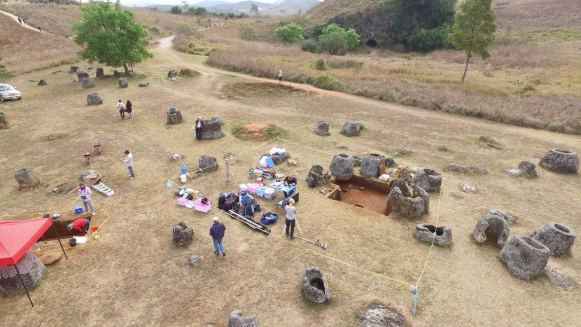 Archaeologists Use Drone to Build 3D Virtual Reality Map of Laos' Plain of Jars  @3dpointerra