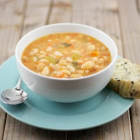 How about Fassolatha Greek bean soup?
