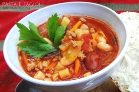 Pasta e Fagioli Italian Soup Recipe DIY