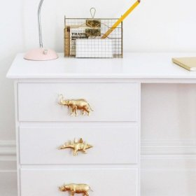 Gold animal drawer knobs kids cool diy