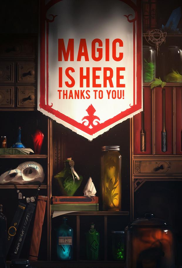 Thanks to you, being a wizard has never been easier! 100% FUNDED #AugmentedReality #gamedev