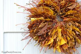 A simple diy project that is perfect for fall. Fall leaf Wreath