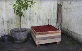 Diy: How to Make a Pallet Wood Planter Box : Garden RecycledPallet Tutorial Video