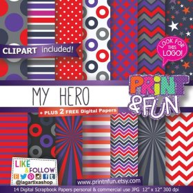 Digital Paper Patterns Backgrounds Scrapbooking, Red, Purple, Gray.. crafts partyideas