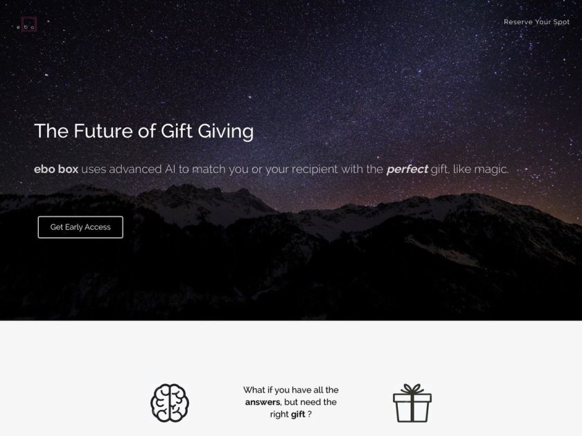 ebo box: The world's 1st artificial intelligence-driven gifting experience