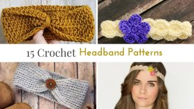 Headbands make for a simple quick crochet project. crochet DIY crafts