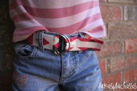 Use duct tape to make a fun DIY belt!
