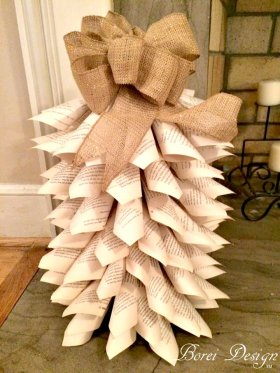 DIY Recycled Book Paper Christmas Tutorial & Live Hometalk Video!!