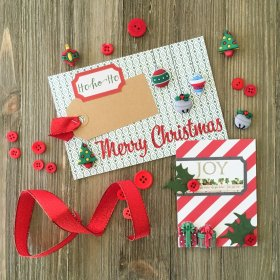 Embellish Your December Album of the Holidays with Buttons! buttons crafts