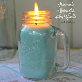 Homemade Mason Jar Soy Candle diy crafts decor candles