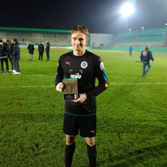Lotte keeper Benedikt Fernandez honored as Man of the Match for performance against his one-time club.