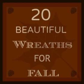 20 Beautiful Wreaths For Fall home diy