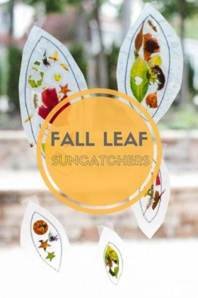 How To Make a Colorful Fall Leaf Suncatcher Collage handsonaswegrow crafts kids