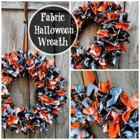 DIY Fabric Halloween Wreath Tutorial Halloween DIY Crafts