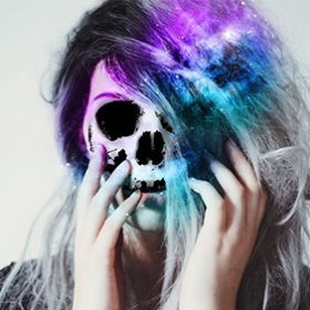 How to Create a Galaxy Skull: halloween makeup