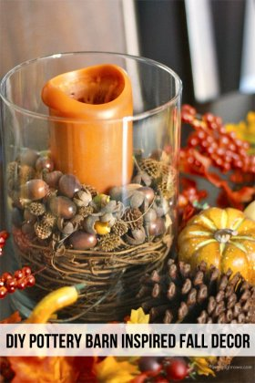 Fall Decorating Inspired by Pottery Barn - DIY decor craft handmade tutorial