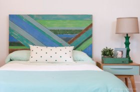 Pieced Wood Headboard Tutorial DIY homedecor house