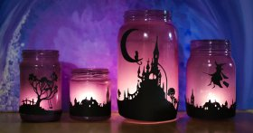 Halloween can be hauntingly beautiful: recycle jar lantern craft enchanting DIY