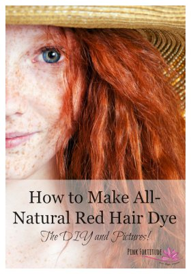 How to Make All-Natural Red Hair Dye - The DIY and Pictures! DIY naturalbeauty