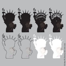 Complete set of Statue of Liberty clipart! scrapbooking cardmaking teacher crafts Go