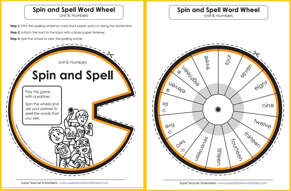 Superteacherworksheets On Twitter Try Out Spelling Word Wheels From Super Teacher Worksheets
