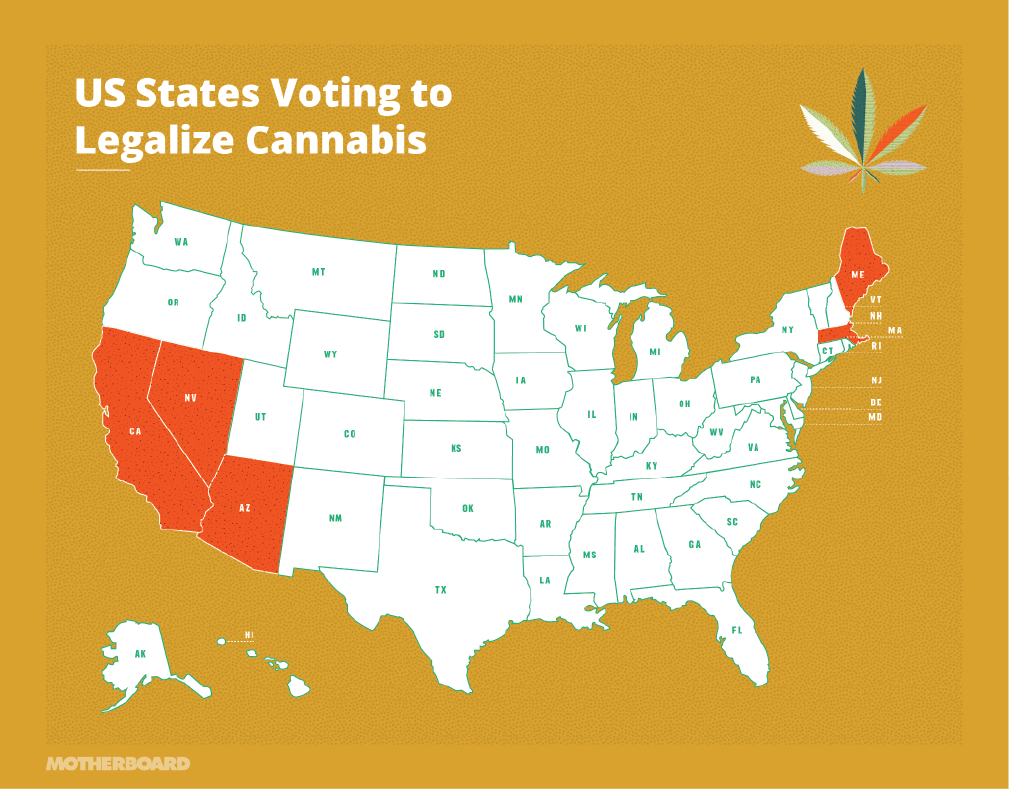 We also broke down the ballot measures in states voting to legalize recreational marijuana: