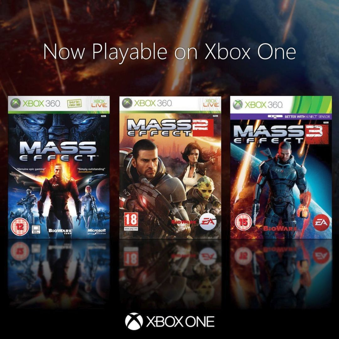 Mass Effect 2 and Mass Effect 3 Are Now Xbox One Backward Compatible 2