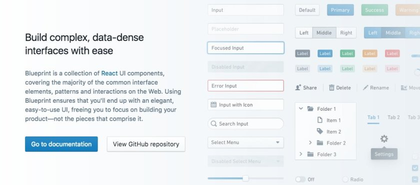 Blueprint - A @reactjs toolkit for the web by @PalantirTech