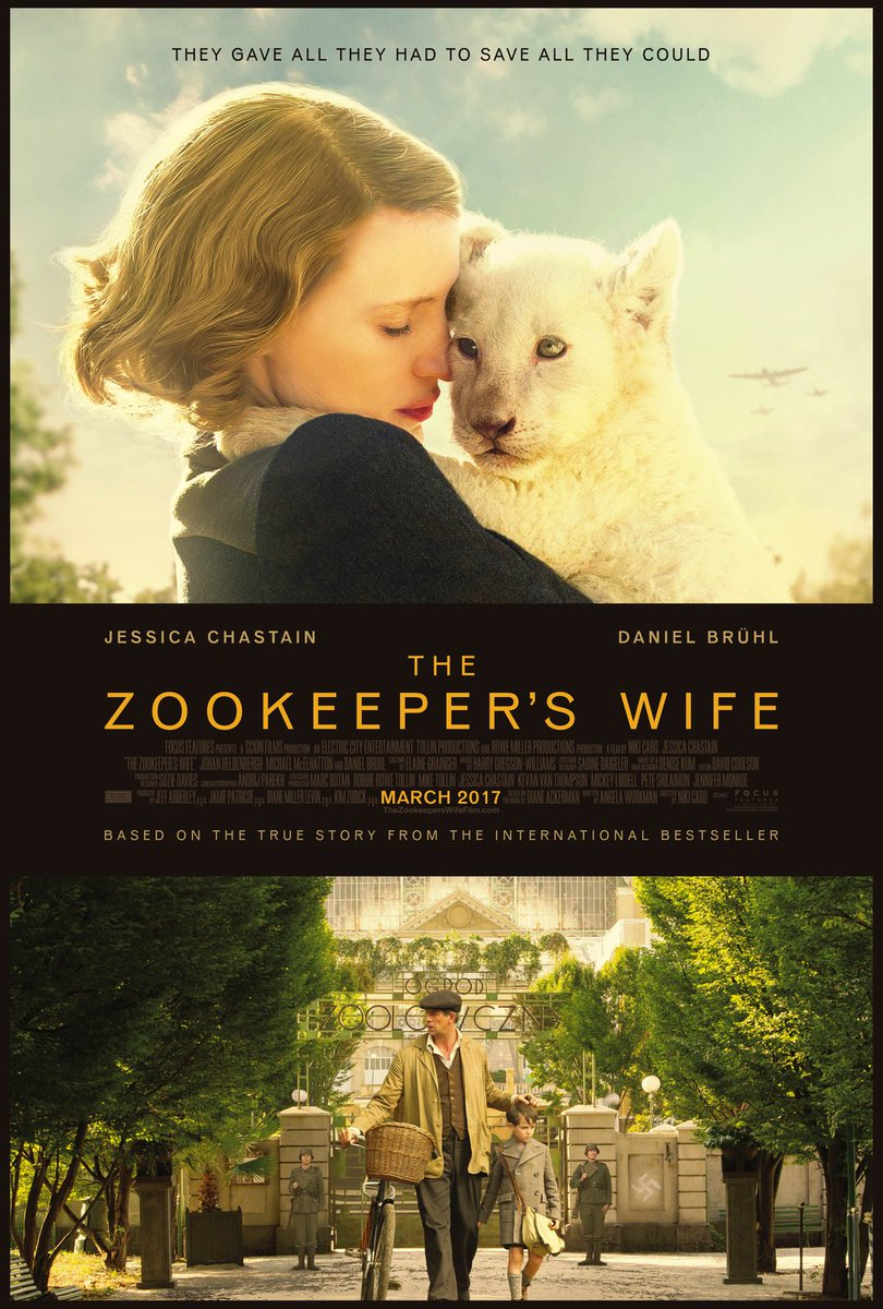 The Zookeeper's Wife poster with Jessica Chastain