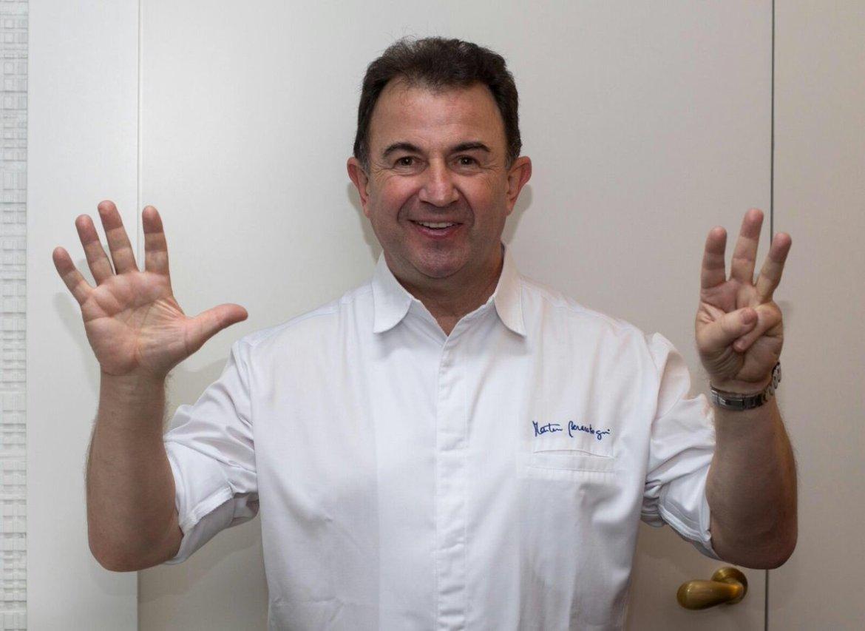 Martín Berasategui, único chef español con ocho estrellas Michelin