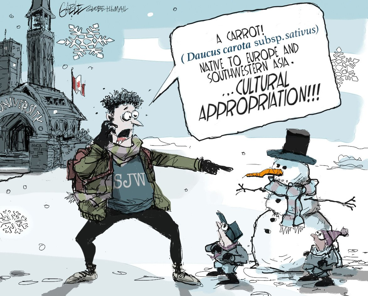 Image result for cultural appropriation political cartoon