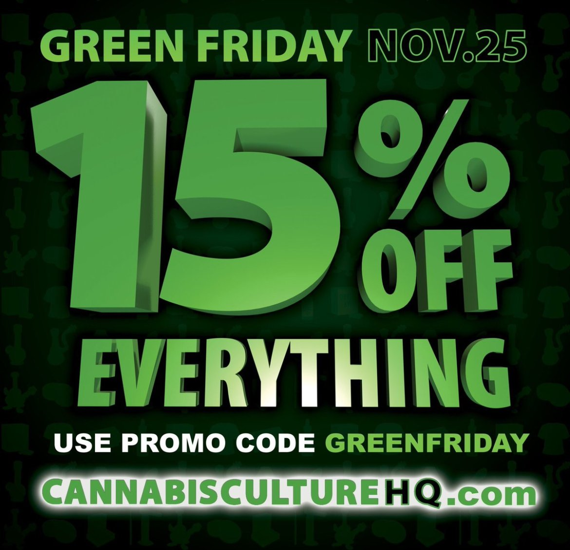 15% OFF EVERYTHING! Green Friday Sale @  Use promo code GreenFriday #greenfriday #blackfriday