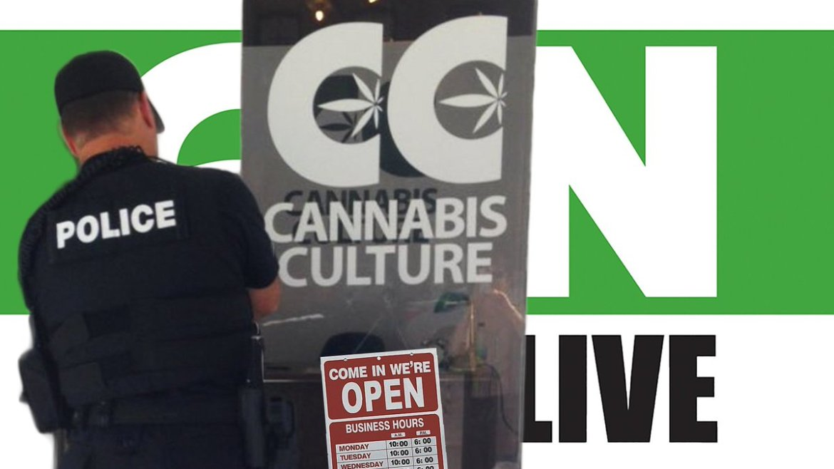 TODAY @ 4PM PT #CannabisCultureNewsLIVE: They Keep Raiding and We Keep Opening  #cdnpoli