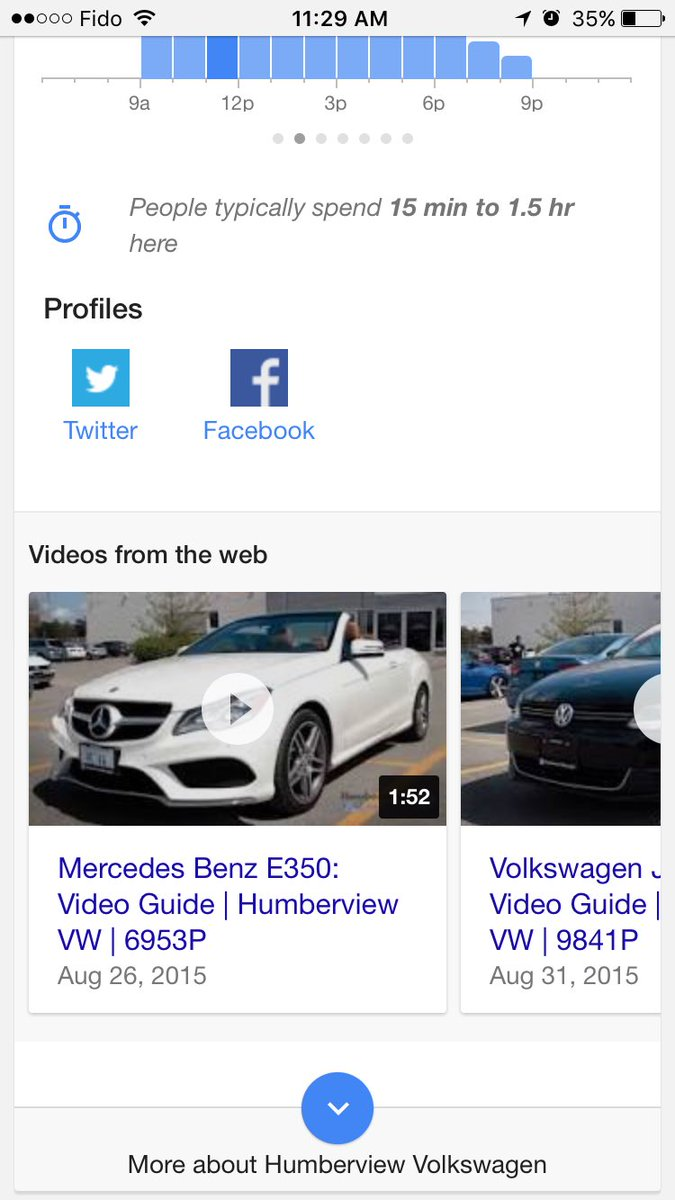 Google show videos in Knowledge Panels
