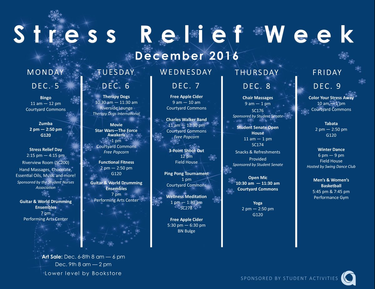 Anoka Ramsey College On Twitter With Finals Week Approaching It S Time To Reduce Stress