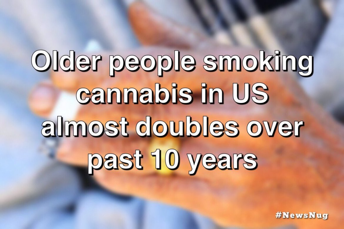 Older people smoking cannabis in US almost doubles over past 10 years  #newsnug #worldreefers