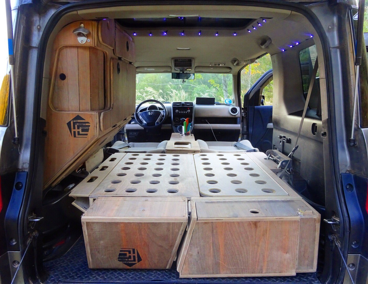 """Any 8' bed, any flatbed, any service body mount. Fifth Element Camping on Twitter: """"Honda Element Micro"""