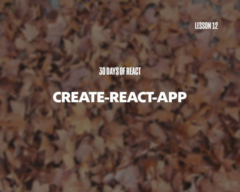 What is Create React App and how do I use it?  Day 12 of 🎄 30 Days of React 🎄   #reactjs