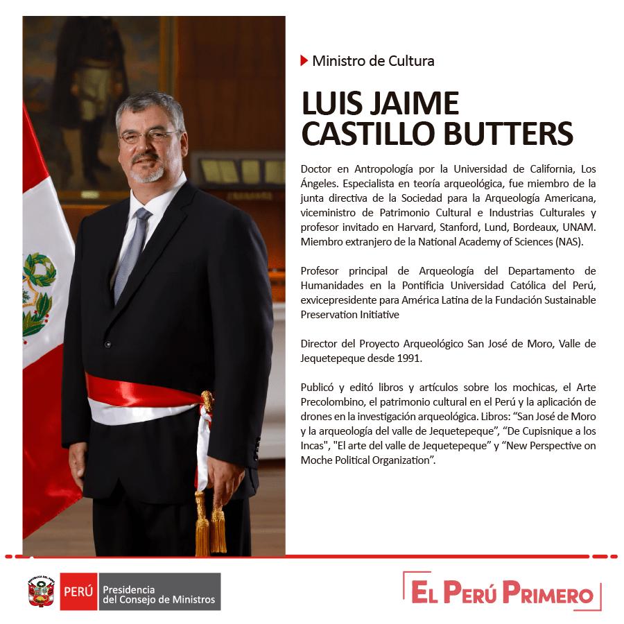 """Twitter पर Consejo de Ministros: """"Luis Jaime Castillo Butters es ..."""