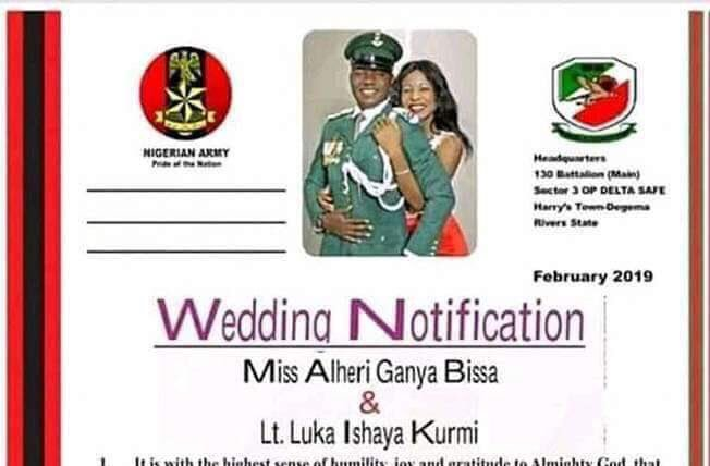 D0NsHlRX0AAlAiD - Army officer killed in Rivers state election violence, just few weeks to his wedding