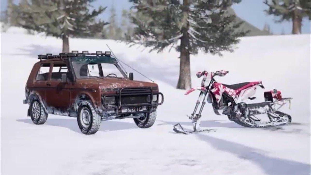 نتيجة بحث الصور عن PUBG Update Snow Bike Zima