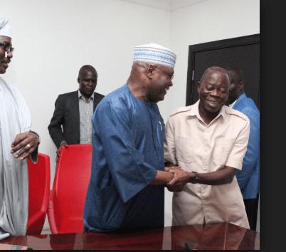 D0hHuBlWkAAQnHX - 2 Reasons Why Atiku Is Not Destined For Presidency – Oshiomole