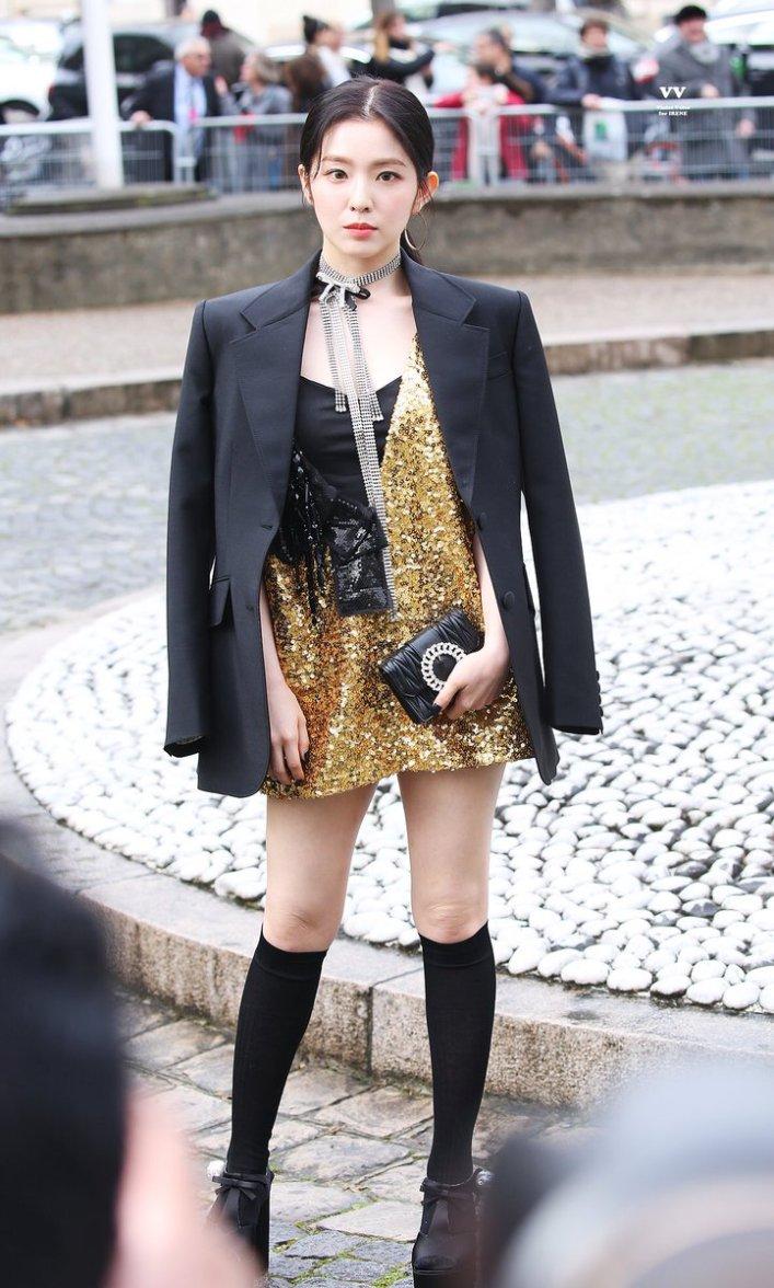 Image result for red velvet irene paris fashion week