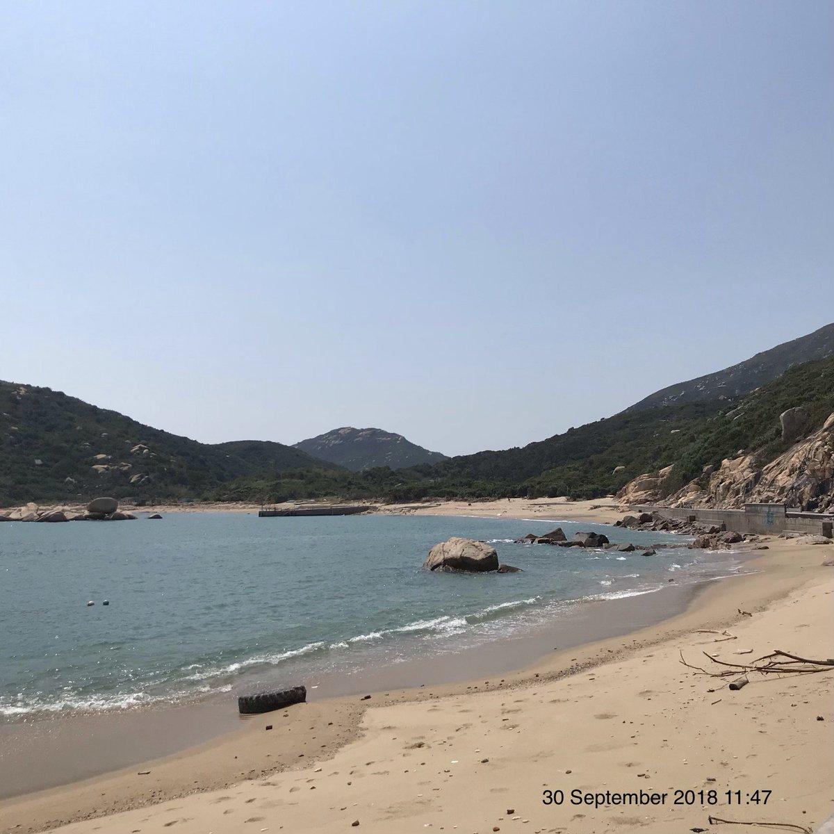 Yung Shue Ha beach south of Lamma island
