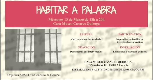 test Twitter Media - No olvidamos a los presos de la antigua cárcel de A Coruña. Puedes seguir sus historias en el blog https://t.co/YZOOzZvwUu  Hoy puedes participar en la lectura de sus cartas en la Casa Museo Casares Quiroga. https://t.co/GxnVMLY1BT