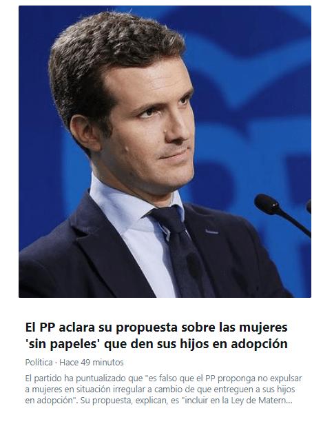 test Twitter Media - El PP aclara su propuesta sobre adopciones y así no tiene que aclarar nada de la fortuna corrupta de Zaplana y Cotino. De eso iba la burrada. https://t.co/RzvjwRq9ei